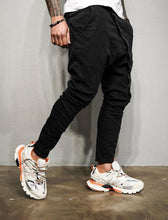 Load image into Gallery viewer, Black Asymetric Baggy Denim BL200 Streetwear Baggy Jeans