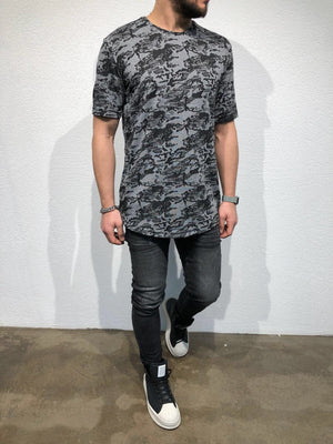 Anthracite  Oversized T-Shirt B56 Streetwear T-Shirts - Sneakerjeans