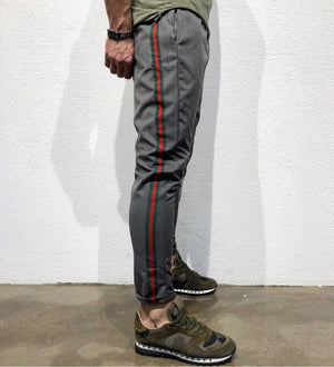 Gray Striped Jogger Pant B145 Streetwear Jogger Pants - Sneakerjeans