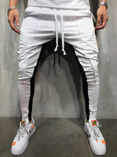 Load image into Gallery viewer, White Gold Striped Jogger Pant A177 Streetwear Jogger Pants - Sneakerjeans