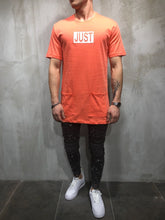 Load image into Gallery viewer, Orange Printed Oversize T-Shirt A17 Streetwear T-Shirts - Sneakerjeans