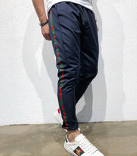 Load image into Gallery viewer, Navy Striped Jogger Pant B148 Streetwear Jogger Pants
