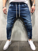 Load image into Gallery viewer, Banding Jogger Denim A28 Streetwear Denim Jeans
