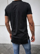 Load image into Gallery viewer, Black Zipper Oversize T-Shirt OT18 Streetwear T-Shirts