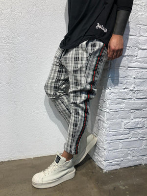 Checkered Striped Baggy Jogger Pant BL145 Streetwear Jogger Pants - Sneakerjeans
