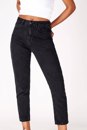 Sneakerjeans Gray Mom Jeans for Women PN5862-1