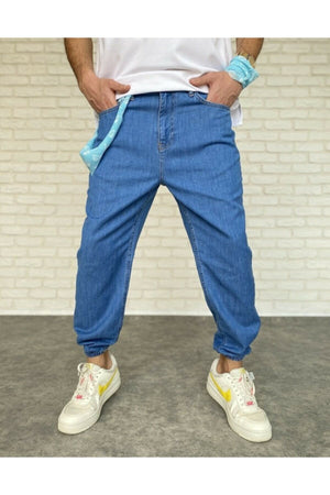 Sneakerjeans Navy Checkered Jogger Pant DR5729
