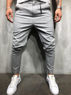 Light Gray Roll Up Ankle Casual Pant 4033 Streetwear Casual Pants - Sneakerjeans