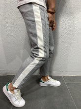 Load image into Gallery viewer, Gray Side Striped Jogger Pant 4477 Streetwear Jogger Pants