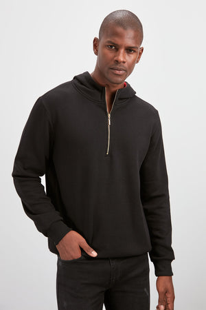 Sneakerjeans Black Zippered Mens Hoodie TM507 - Sneakerjeans