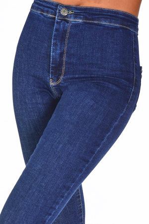 Sneakerjeans Blue High Waisted Jeans 16107