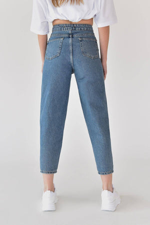 Sneakerjeans Blue Mom Jeans 21435
