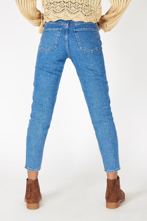 Blue Mom Jeans for Women PN5793 - Sneakerjeans