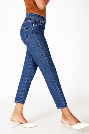 Blue Mom Jeans for Women 16591 - Sneakerjeans