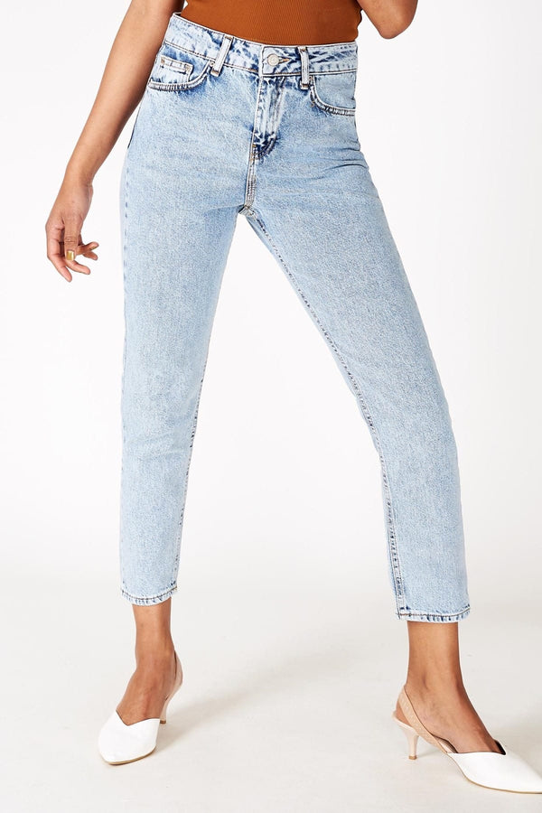 Light Blue Mom Jeans for Women 16936 - Sneakerjeans