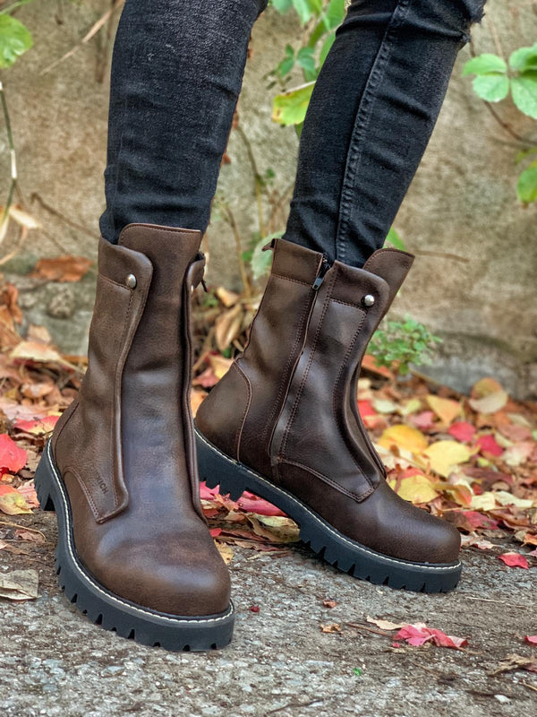 Sneakerjeans Brown Military Boots CH027