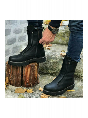 Sneakerjeans Black Military Boots CH027