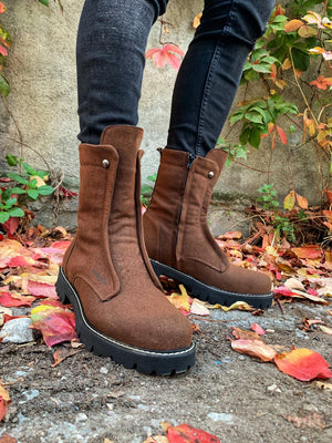 Sneakerjeans Brown Suede Military Boots CH027