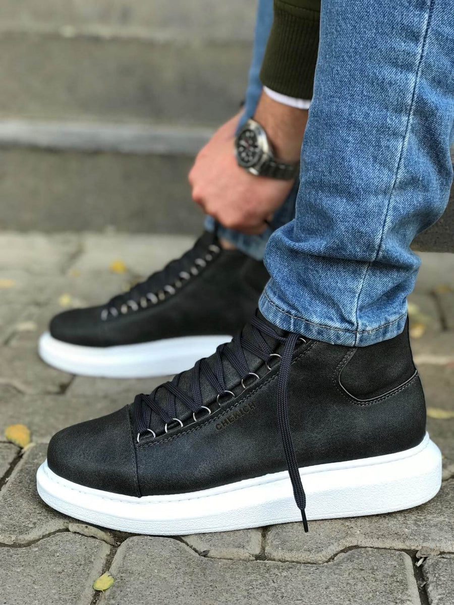 Anthracite Mid Top Sneaker CH258