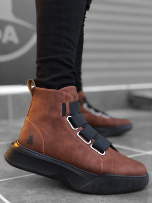 Brown Mid Top Sneaker BA0142