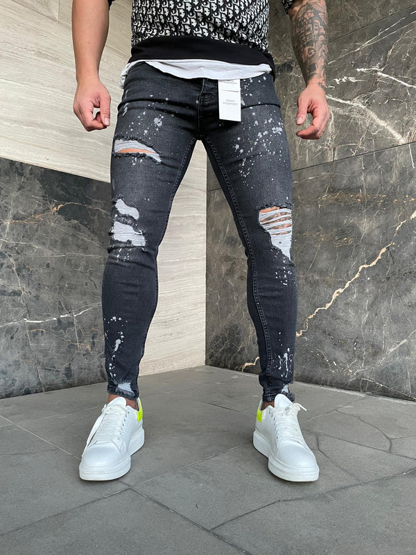 Sneakerjeans Blue Ripped Jeans DP137