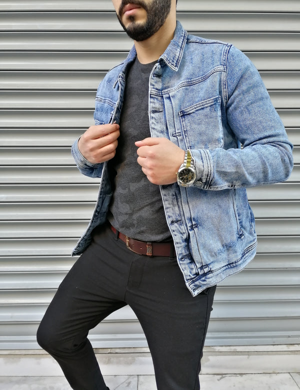 Denim Jacket B77 Streetwear Denim Jacket