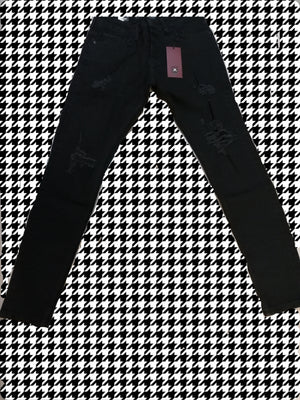 Sneakerjeans Black  Washed Jeans AY017