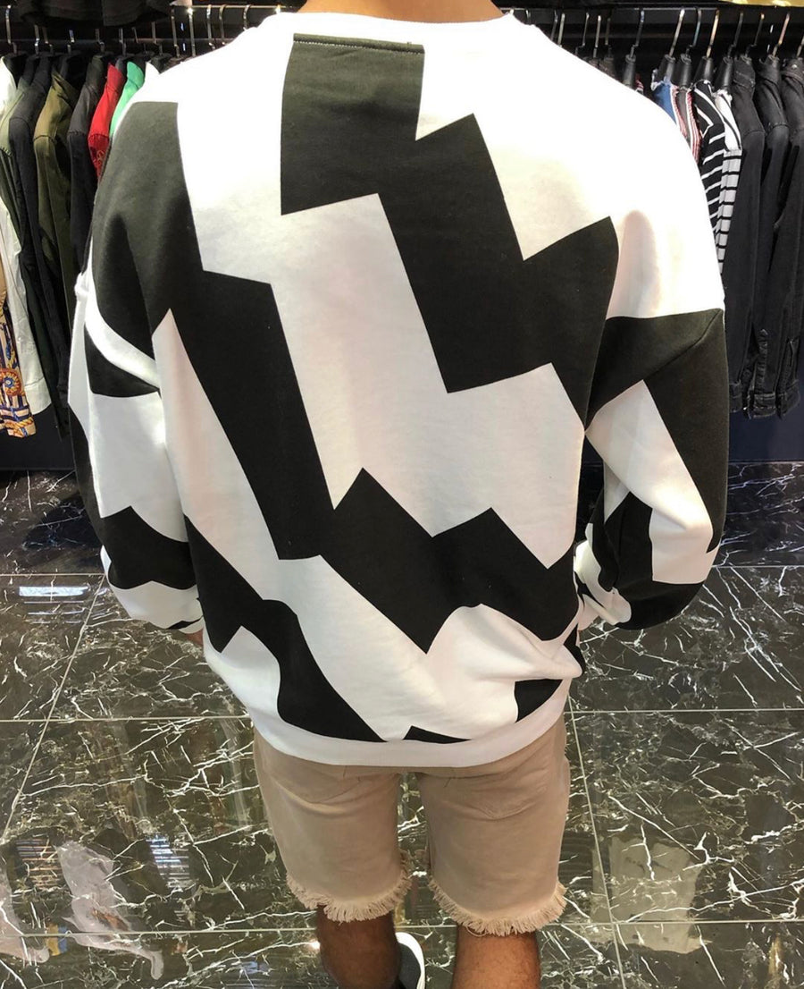 Sneakerjeans White Lion Printed Sweater ES23