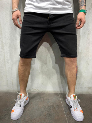 Black Short Jeans AY612 Streetwear Mens Jeans Shorts - Sneakerjeans