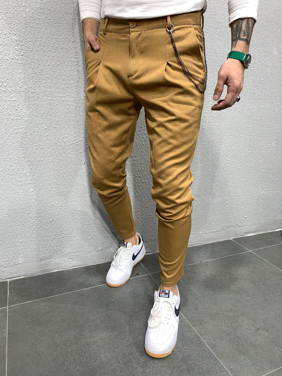 Brown Casual Pant AY691 Streetwear Casual Jogger Pants - Sneakerjeans