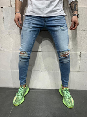 Sneakerjeans Blue Ripped Jeans AY717