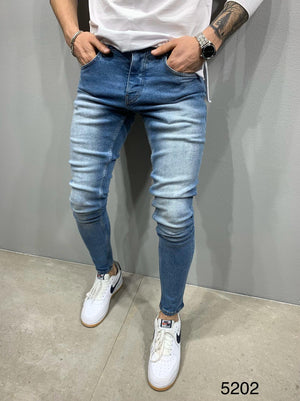 Sneakerjeans Blue  Skinny Ripped Jeans AY731