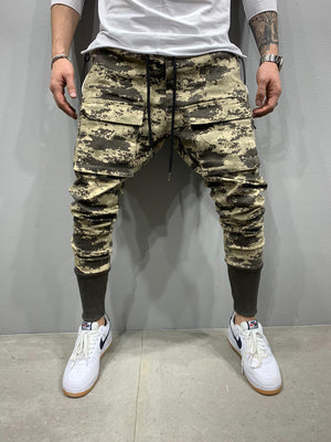 Sneakerjeans Camouflage Cargo Jogger Jeans AY741