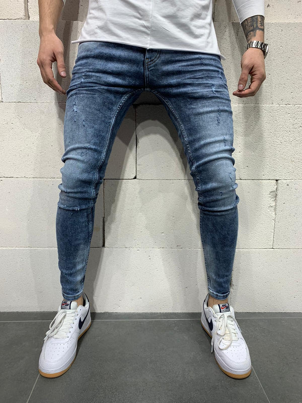 Sneakerjeans Blue Ripped Skinny Jeans AY764