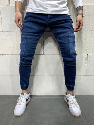Sneakerjeans Blue Cargo Jogger Jeans AY779