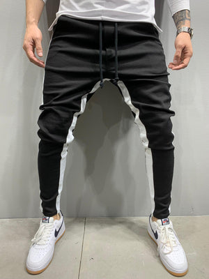 Sneakerjeans Black Striped Jogger Pant AY805