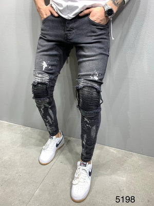 Sneakerjeans Rubber Ripped Skinny Jeans AY812