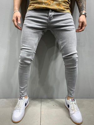 Sneakerjeans Light Gray Skinny Jeans AY837