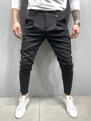 Sneakerjeans Black Casual Pant AY846