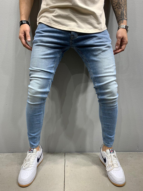 Sneakerjeans Blue Washed Skinny Jeans AY938