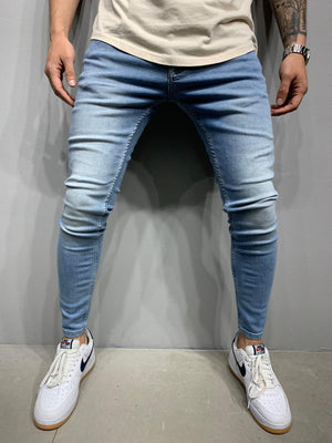 Sneakerjeans Washed Blue Skinny Ripped Jeans AY960