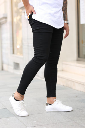 Sneakerjeans Black Skinny Jeans DP21