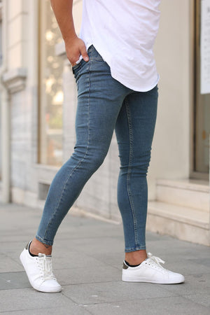 Sneakerjeans Blue Skinny Jeans DP20