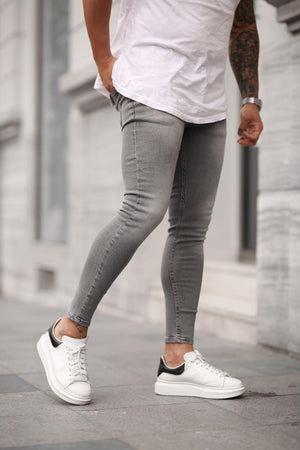 Sneakerjeans Light Gray Skinny Jeans DP28