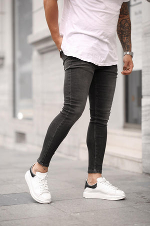 Sneakerjeans Washed Black Skinny Jeans DP33