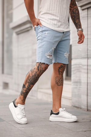 Sneakerjeans Light Blue Ripped Jeans Short DP38