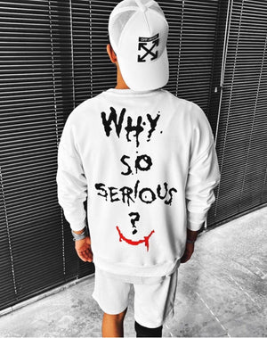Sneakerjeans White Why So Serious Printed Sweatshirt ES04