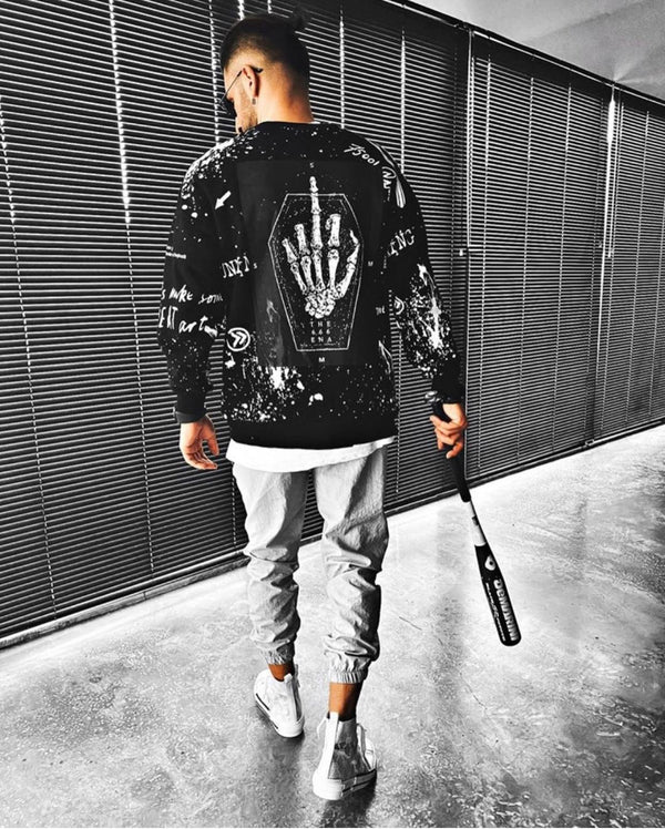 Sneakerjeans Black Fck Printed Sweatshirt ES08