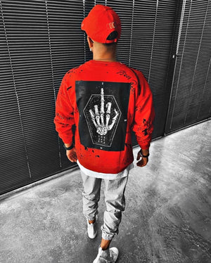 Sneakerjeans Red Fck Printed Sweatshirt ES09