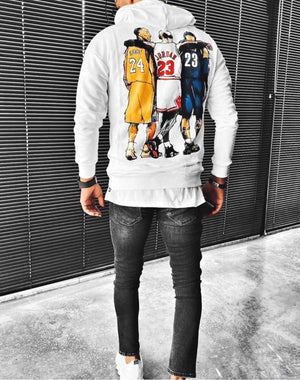 Sneakerjeans White Basketball Legends Printed Hoodie ES07